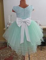 Дитяче плаття - ментол, фото 2