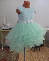 Дитяче плаття - ментол, фото 3
