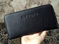 Большой мужской  кошелек/портмоне черного цвета, фото 1