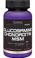 Глюкозамин и хондроитин, Ultimate Nutrition, Glucosamine chondroitin + MSM, 90 tab