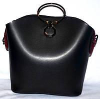 Женская сумка с косметичкой Michael Kors с металлическими ручками 27*24