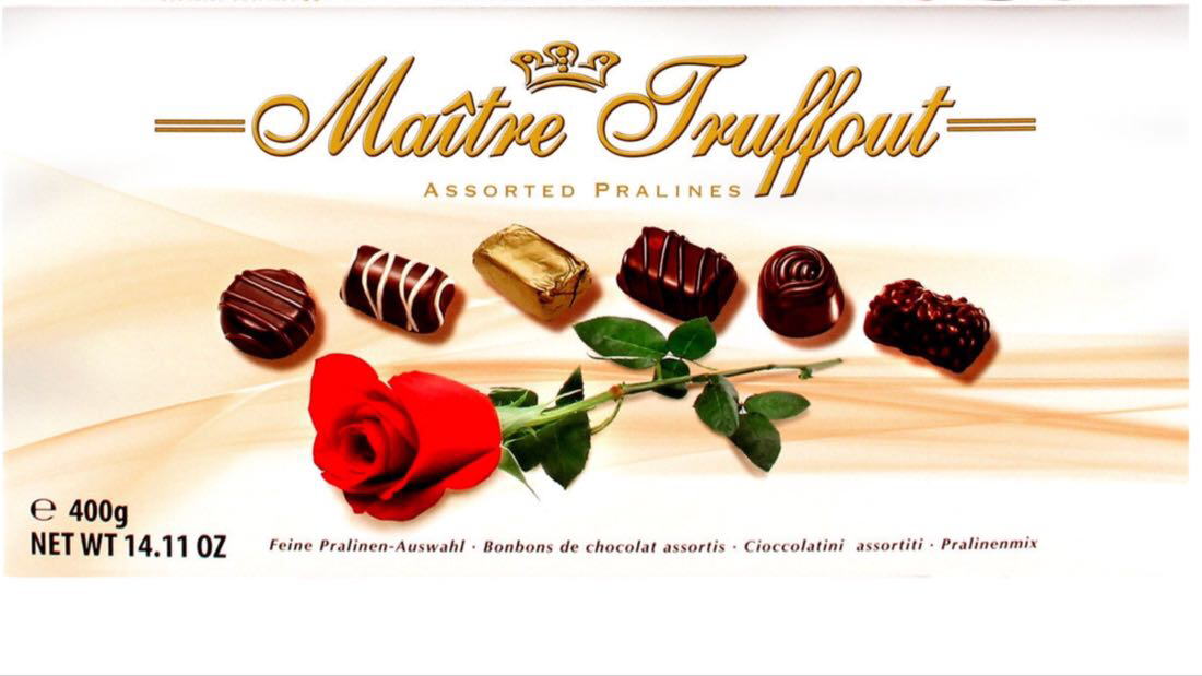 Шоколадные конфеты Matre Truffaut Assorted Pralines Rose 400гр