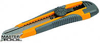 Нож пласмассовый винт.замок лезвия 18 мм накладками