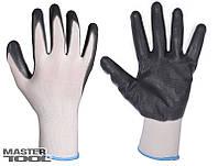 Перчатки трикотажныес нитрил. покрытием (бело-серые)