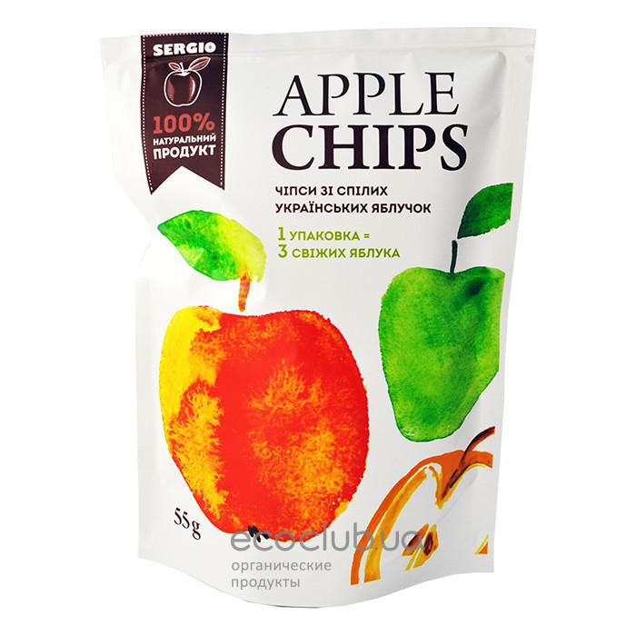 Apple chips (Яблочные чипсы), 55 грамм