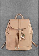 """Кожаный рюкзак """"Олсен Крем-брюле"""""""