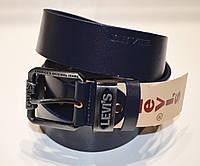Стильный кожаный ремень Levi's синего цвета