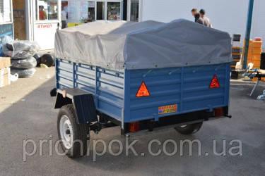 Тент на легковой прицеп караван 2 * 1,3.Ткань пвх.