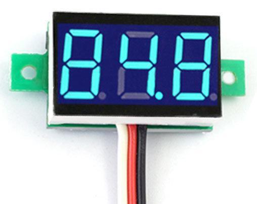 Цифровой вольтметр 2.7-30 DC СИНИЙ