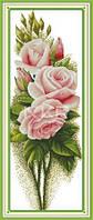 Розовые розы Набор для вышивки крестом