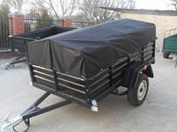 Тент на легковой прицеп караван 2.2 * 1,3.Ткань пвх., фото 1