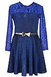 Платье с юбкой солнце-клеш и длинными рукавами для девочки 134-152р, фото 2