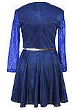 Платье с юбкой солнце-клеш и длинными рукавами для девочки 134-152р, фото 7