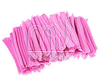 Шапочки одноразовые, 100 шт. розовые