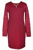 Нарядное платье из ткани двух видов для девочки 134-152р, фото 2