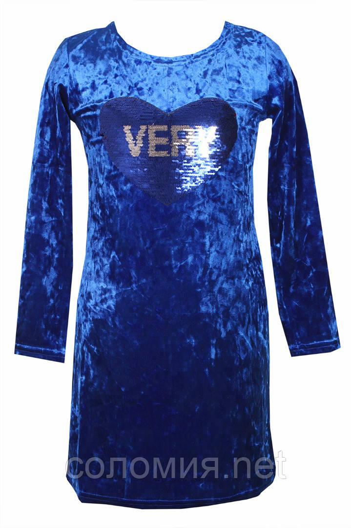 Шикарное платье из нежной ткани для девочки 134-158р