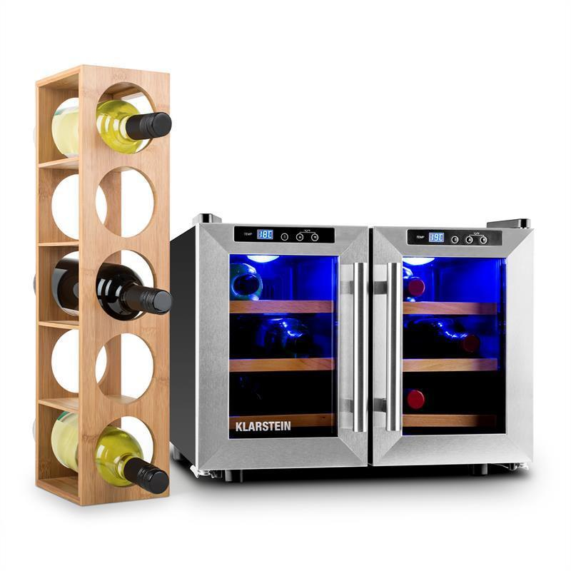 Винный холодильник  Klarstein на 40 л/ 12 бутылок + подставка для вина