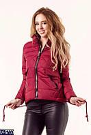 Модная оригинальная короткая демисезонная стеганная куртка без капюшона новинка 2018 Фабрика Моды 42,44,46