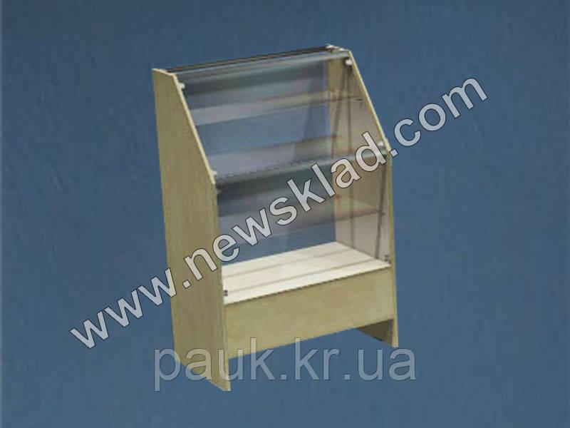 Торговая витрина без цоколя из ламинированного ДСП со стеклом ВС1