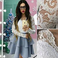 Платье (42. 44) — неопрен + кружево с мерцающим напылением купить оптом и в розницу в одессе  7км