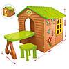 Детский домик со столиком и стульчиком Mochtoys, фото 2