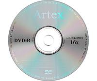 Диск Artex DVD-R 4,7 GB 16x, Bulk/50, серебристый (CMC Magnetics)