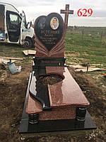 Элитный памятник из лезниковского гранита и габбро