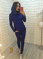 Женский стильный костюм-двойка брюки плюс кофта с капюшоном Батал, фото 1