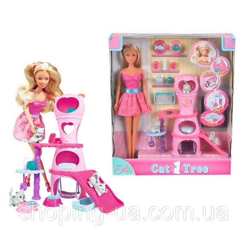 Кукольный набор Штеффи с домиком для котиков Simba 5730214