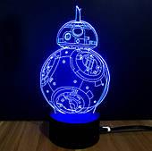 """Ночник 3D """"Дроид BB-8"""""""