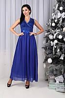 Платье (44,46,48) —  гипюр + шифоновая юбка купить оптом и в розницу в одессе  7км
