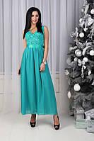 Платье (44,46,48) — гипюр + шифоновая юбка