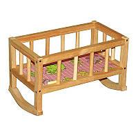 Деревянная кроватка для кукол Вини Пух ВП-002