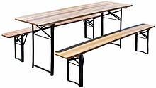 Пивной стол с лавками  180х50см