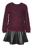 Черная юбка из экокожи для девочек 134-152р, фото 2