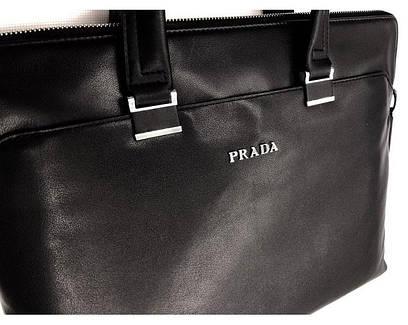 74173eca8f60 Купить Мужская кожаная сумка Prada (8823-3) leather De Lux SR-807 в ...