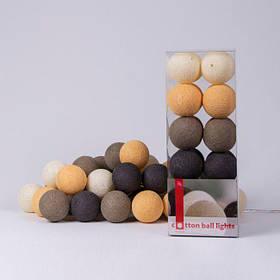 Хлопковая гирлянда Clay 20 шариков