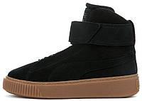Женские кроссовки Puma Platform Mid OW Black (в стиле Пума) черные