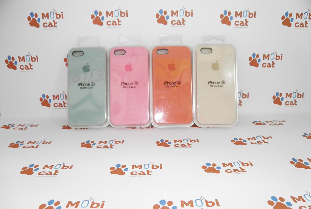 Чехол Silicone original case для iPhone SE/5S/5