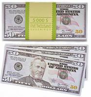"""Сувенирные деньги """"50 долларов"""""""