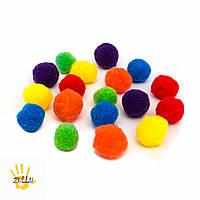 Разноцветные помпоны для сортировки