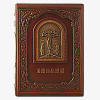 Кожаная книга Библия с гравюрами Гюстава Доре