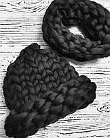 Набор шапка и шарф из шерсти Меринос