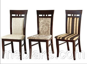 """Стул обеденный """"ЭССЕН"""" (орех, белый, ваниль,бежевый) для гостинной Fusion Furniture, фото 3"""