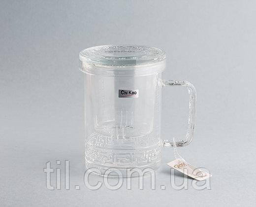 Чашка с заварником 400 мл.