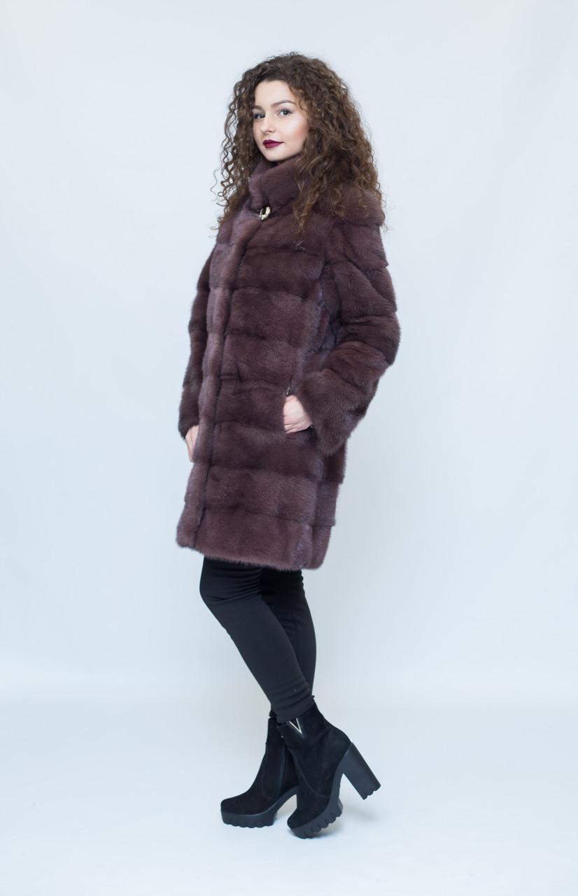 Норковая шуба Oscar Fur  437 Соболиный шик