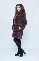 Норковая шуба Oscar Fur  437 Соболиный шик, фото 1