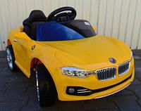 Детский электромобиль BMW KX 802, Амортизаторы, два мотора, два аккумулятора, дитячий електромобіль, жёлтый