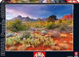 """Пазл """"Закат в Ред Рокс, Аризона США"""" 4000 элементов Educa (EDU-16324)"""