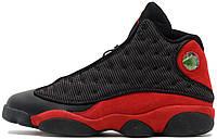 """Баскетбольные кроссовки Nike Air Jordan 13 Retro """"Bred"""" (Найк Аир Джордан 13 Ретро) в стиле черные"""